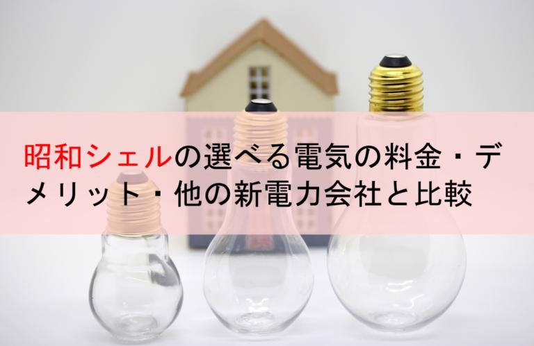 昭和シェルの選べる電気の料金・デメリット・他の新電力会社と比較
